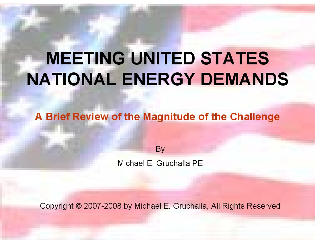 Meeting US Energy Demends